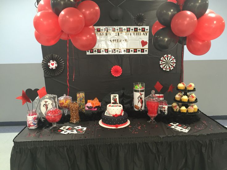Harley Quinn Party Birthday Party Ideas Pinterest