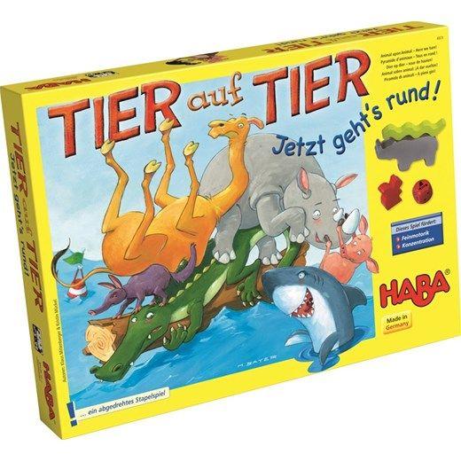 Gra HABA - Zwierzak na Zwierzaku: Obrotowa Wieża - cena: 91.00zł - Gry dla dzieci / Zabawki według aktywności / ZABAWKI DLA STARSZAKÓW :: Tublu.pl - zabawki, artykuły i akcesoria dla dzieci i niemowląt