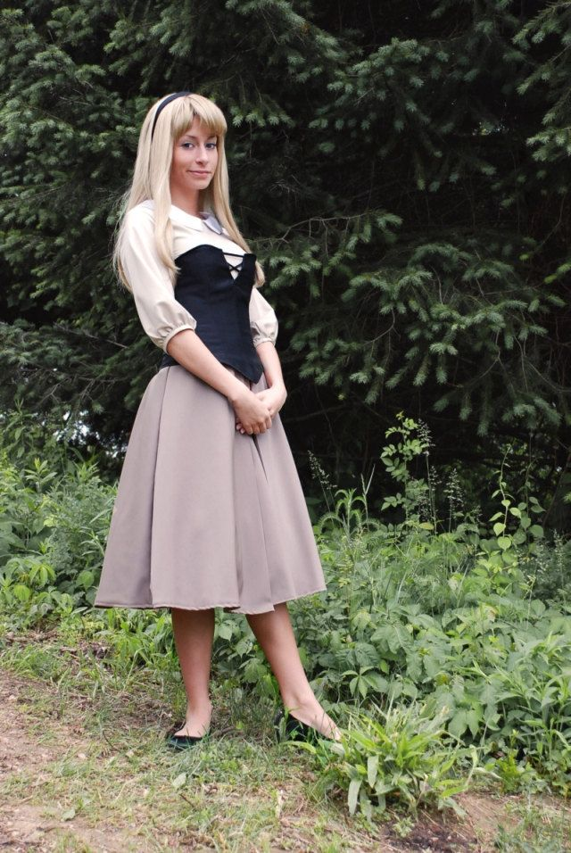 Briar Rose, Disney's Sleeping Beauty Costume. $250.00, via Etsy.    though, this should be pretty easy to make on my own..