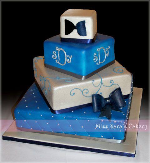 Cake!White Cake, Blue Squares, Cake Silver, Cake Ideas, Blue Wedding Cakes, Squares Cake, Beautiful Cake, Blue Weddings, Royal Blue