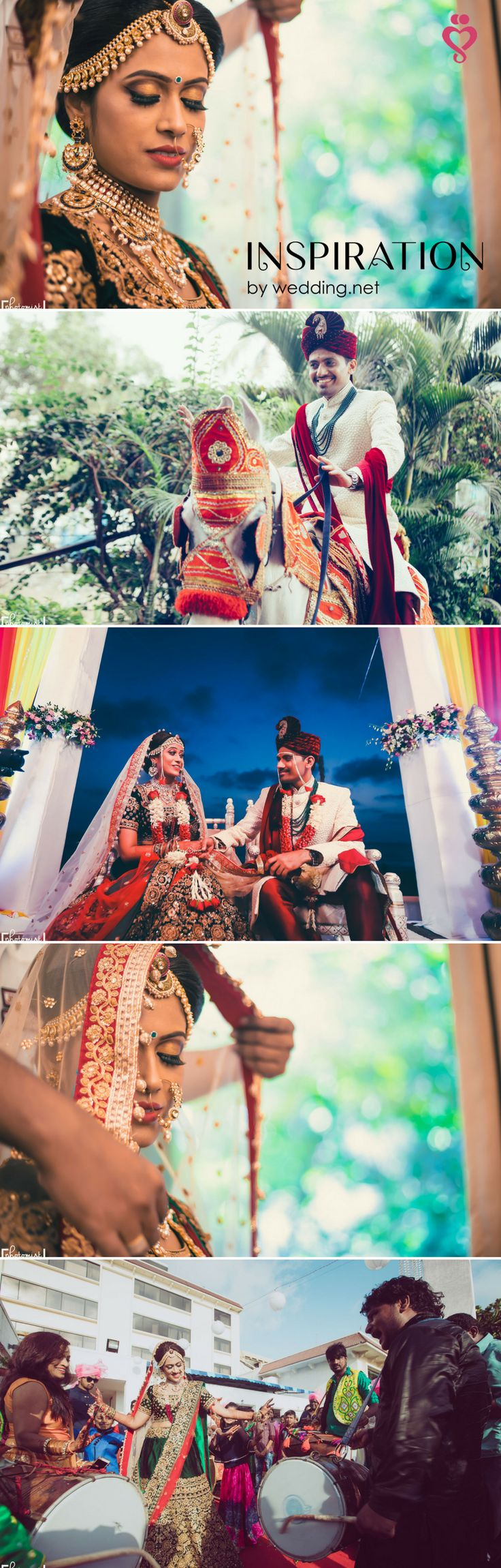 A NEW ARTICLE ON OUR BLOG! Love Story Shot - Brides in a Red and Gold Sequinned Lehenga and Grooms in a Black and Red Suit. Best Locations WeddingNet #weddingnet #indianwedding #lovestory #photoshoot #inspiration #couple #love #destination #location #lovely #places