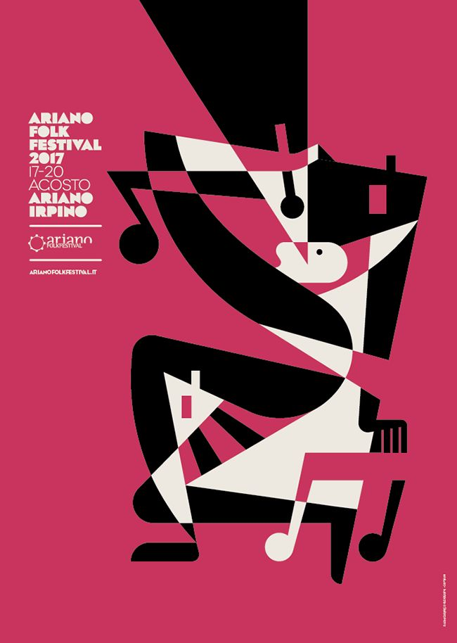 Illustration for the poster of Ariano Folk Festival 2017