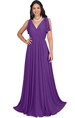 8f1b65b3dd713e The perfect KOH KOH KOH KOH Womens Long V-Neck Ruffle Sleeveless Bridesmaid  Prom Gown Maxi Dress womens dresses. [$59.95] allshoppingideas.ga from top  store