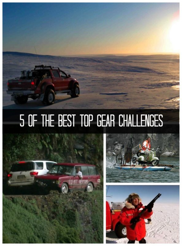 5 of the best Top Gear Challenges. Is your favorite there? #Topgear #adventure