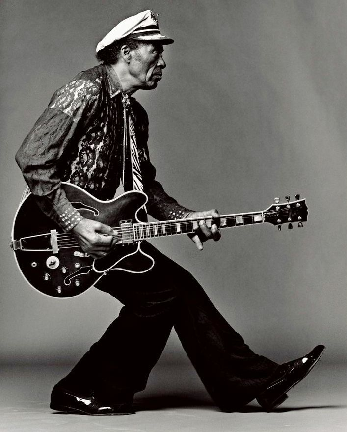 Chuck Berry photographed by Mark Seliger.