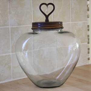 Grande bonbonnière en verre - bonbonniere decoration de cuisine - cuisine decoration campagne