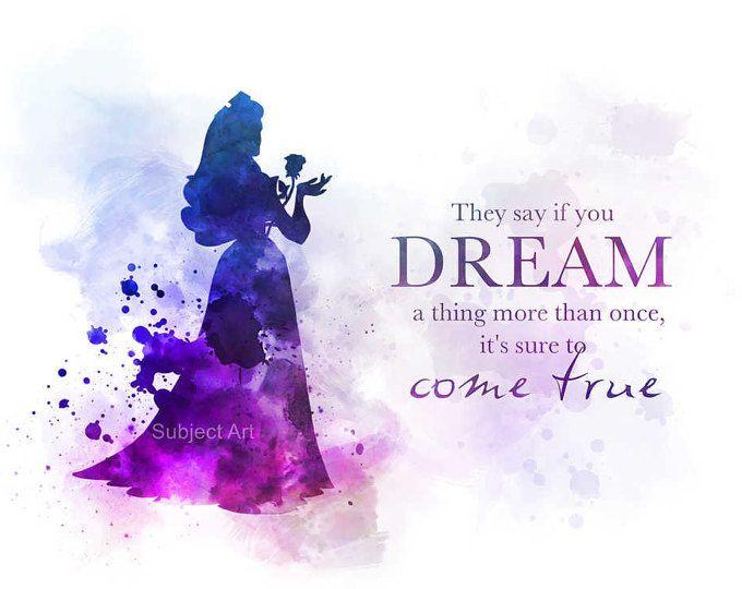 Sleeping Beauty, Aurora Quote ART PRINT illustration, Disney, Princess, Wall Art, Home Decor