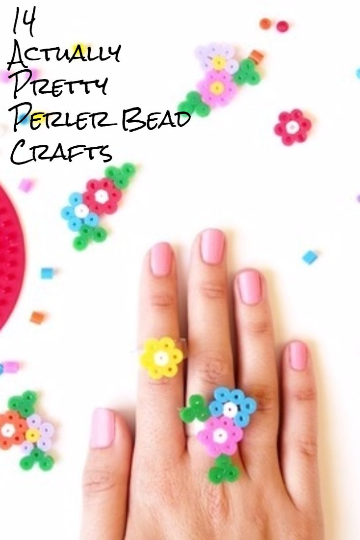 14 Actually Pretty Perler Bead Crafts to Melt - Check out our list of unexpected perler bead craft ideas and perler bead patterns.