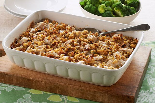 Comfort food gets even cozier when stuffing is involved. Add chicken and sour cream and you've got a piping-hot reason to run, not walk, to the table.