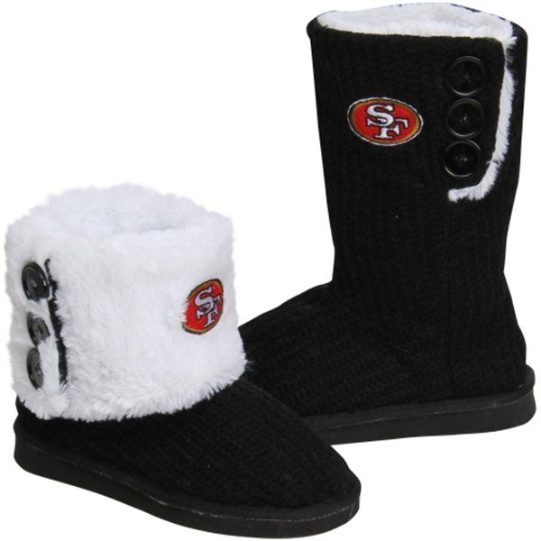 San Francisco 49ers Boot Slippers 9ermama needs these! :)