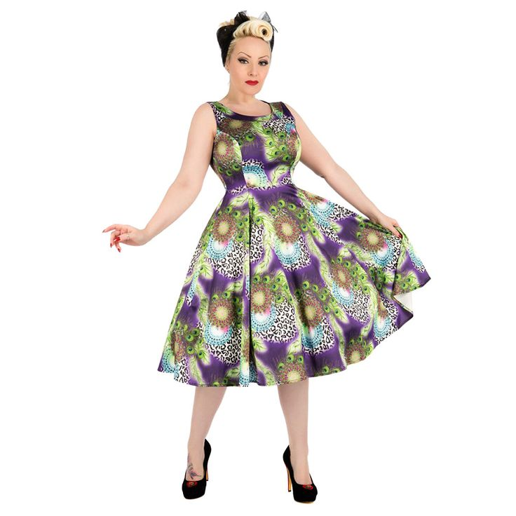 H&R Leopard & Peacock 9488 Dress, Vintage Pin Up Dress .  I personally find this awful!!