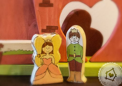 prince and princess - wooden toys