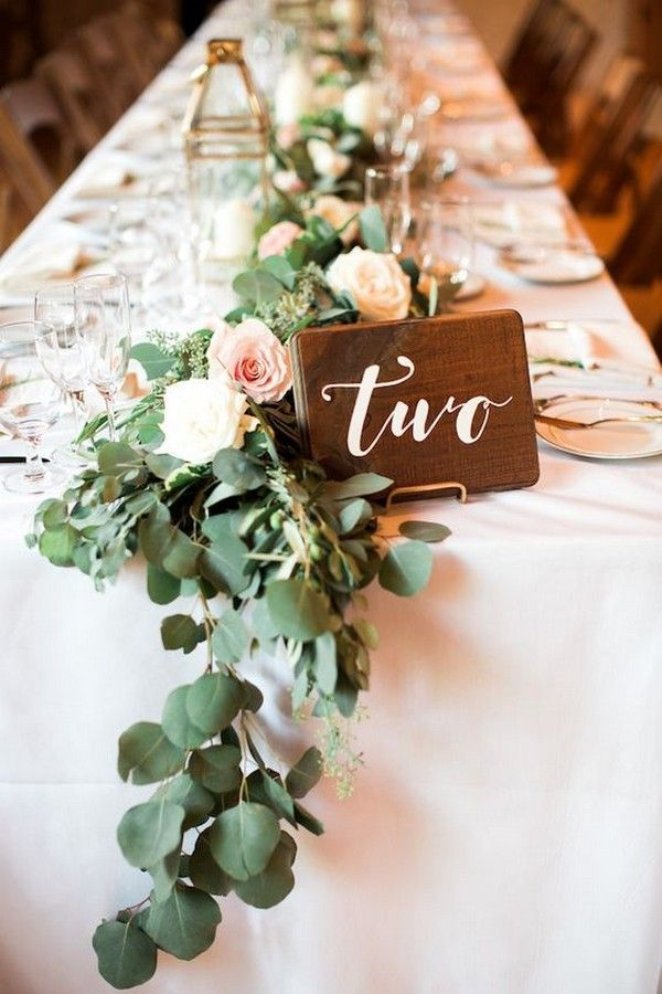 27 Inspiring Wedding Table Number Ideas For 2019 Rectangle
