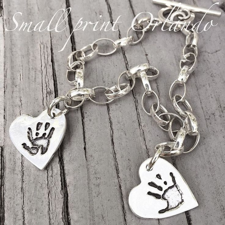 #HighFives #CharmBracelet. Handmade in Windermere FL using your child's ACTUAL hand print. Each charm hand engraved on the back with child's name and age. I'll be taking prints tomorrow at @windermerefarmersmarket 9-2pm then @firstfridayorlando #BaldwinPark 530-930pm. #SmallprintOrlando