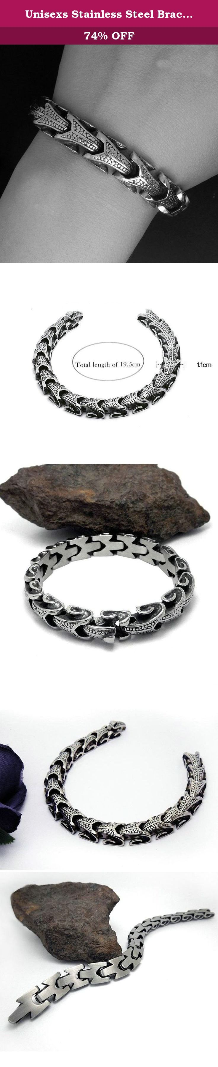 Unisexs Stainless Steel Bracelet Snake Chain Length 19CM Black - Adisaer Jewelry. This bracelet is a perfect gift for anyone. This bracelet is made of durable highly polished 100% stainless steel. Give it to your loved one, or treat yourself for a trendy bracelet style. The bracelet features a modern design showcasing a silver-tone snake chain and simple yet classic style. A special clasp allows to lock the bracelet securely around your wrist. This bracelet will make a wonderful addition…