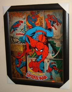 Stunning Spider-Man Spidey Superhero Official Framed Comic Strip Poster Print Brand New Free UK P+P
