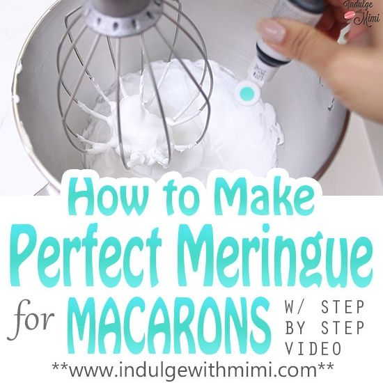 By popular request, here is a dedicated video and instructions for preparing the meringue in macaron baking. The meringue is perhaps the most important foundation for macarons so it's importa…