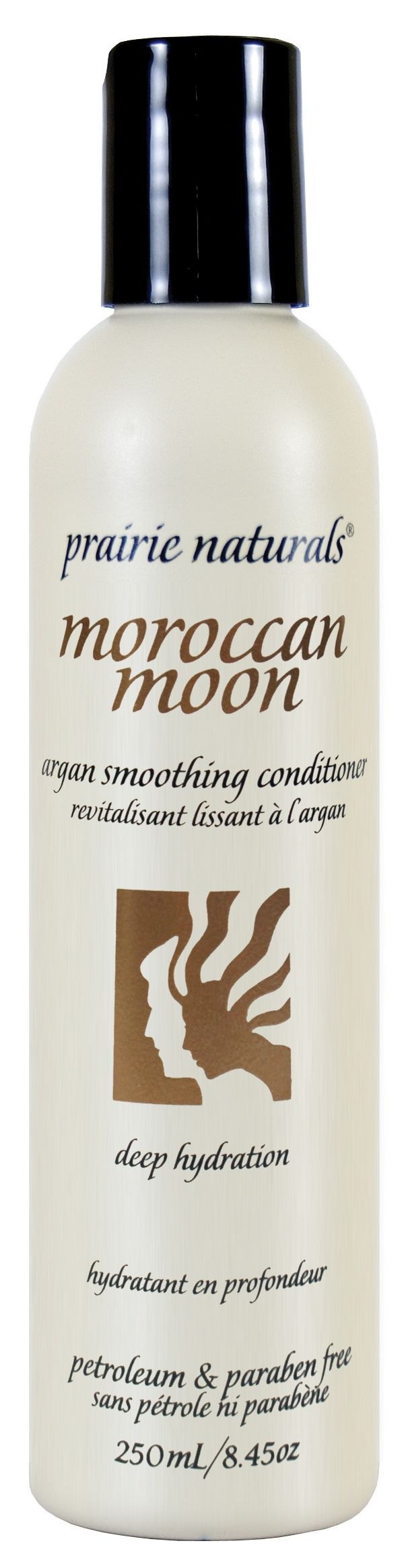Moroccan Moon Argan Smoothing Conditioner. Deep hydration. Petroleum & Paraben Free.