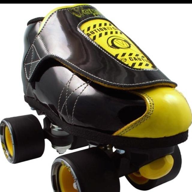 Love vanilla's!! Caution tape, Custom skates, Roller skating