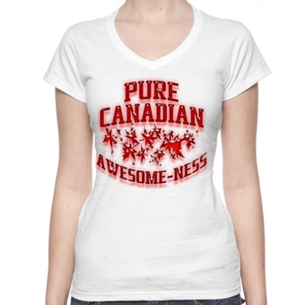 T-Shirts Pure Canadian Awesome Ness Tee Shirt