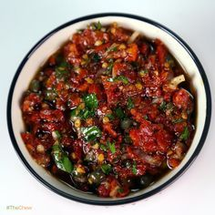 Sundried Tomato Spread by Mario Batali! #TheChew #Appetizer