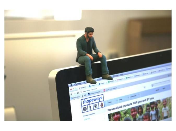 A Little Sad Keanu Reeves by neuralfirings on Shapeways - 3-D printed