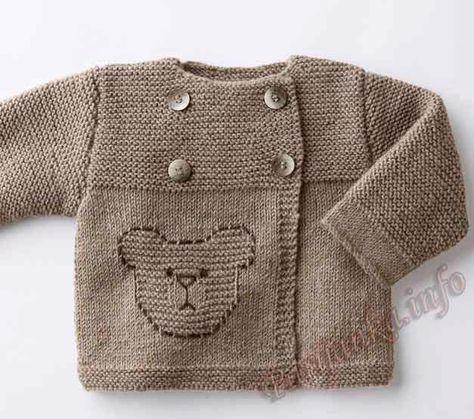chaquetita marrón con oso
