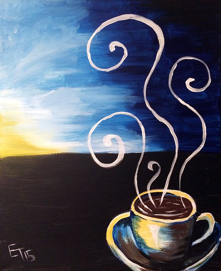 """Sunrise Coffee"" painting available for iPaint Parties!"