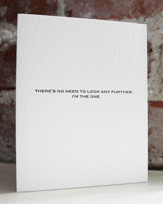 im the one. letterpress card