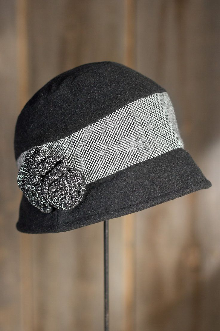 """The imaginative fashion of the Rita Wool Hat will adorn and protect you this season. Worn straight or tilted, its feminine style perks up your outdoor look with its contrast tweed band highlighted by a knitted floral appliqué centerpiece. Beautifully crafted from boiled wool, this molded hat sports a stylish brim and a playful mix of tones and textures, that will instantly make it your favorite everyday headwear. One size. Imported. <p> One size (22.5"""" circumference) </p>"""