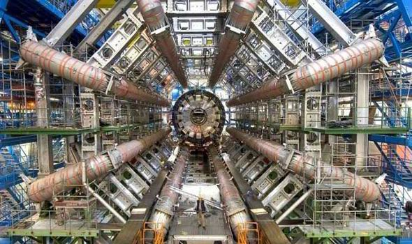Large Hadron Collider - contact with a parallel universe? http://www.express.co.uk/news/world/565315/Scientists-at-Large-Hadron-Collider-hope-to-make-contact-with-PARALLEL-UNIVERSE-in-days