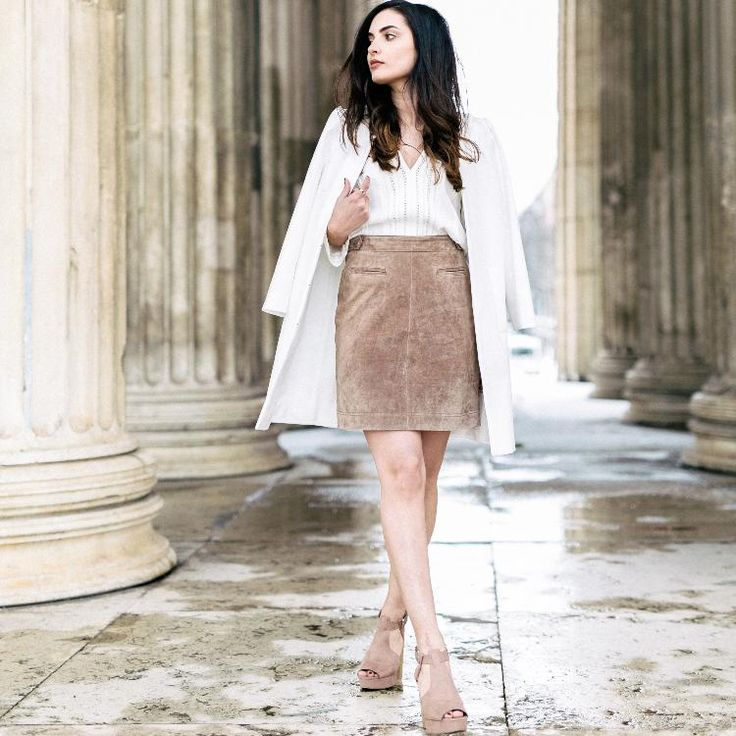 suede skirt by Merna Mariella