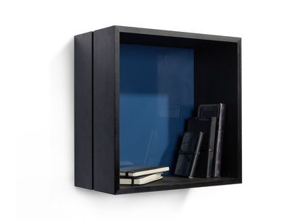 L'Aéropostale Shelf -Square - 35 x 35 cm Black / Glossy blue bottom by Ibride