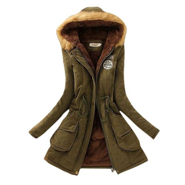 Thickening Warm Fur Collar Winter Coat New 2015 Women Clothes Lamb Wool Jacket Hooded Parka Army Green Overcoat XXXL Top198  US $21.98-24.42 /piece  	 	 	  CLICK LINK TO BUY THE PRODUCT   http://goo.gl/4du0DP