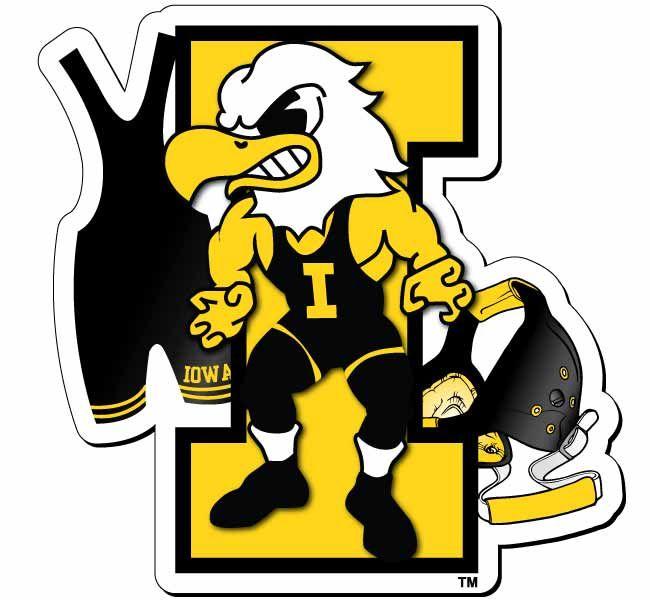 Iowa Hawkeyes Wrestling | hawkeye wrestling magnet iowa wrestling magnet with herky singlet and ...