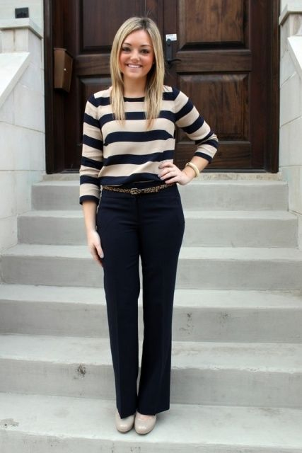 16 Striped Work Outfits For Ladies | Styleoholic
