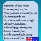 Noteworthy Resources provides the Australian National Anthem, Advance Australia Fair, in a clear layout.  Both verse 1 and 2 are included.  A valua...