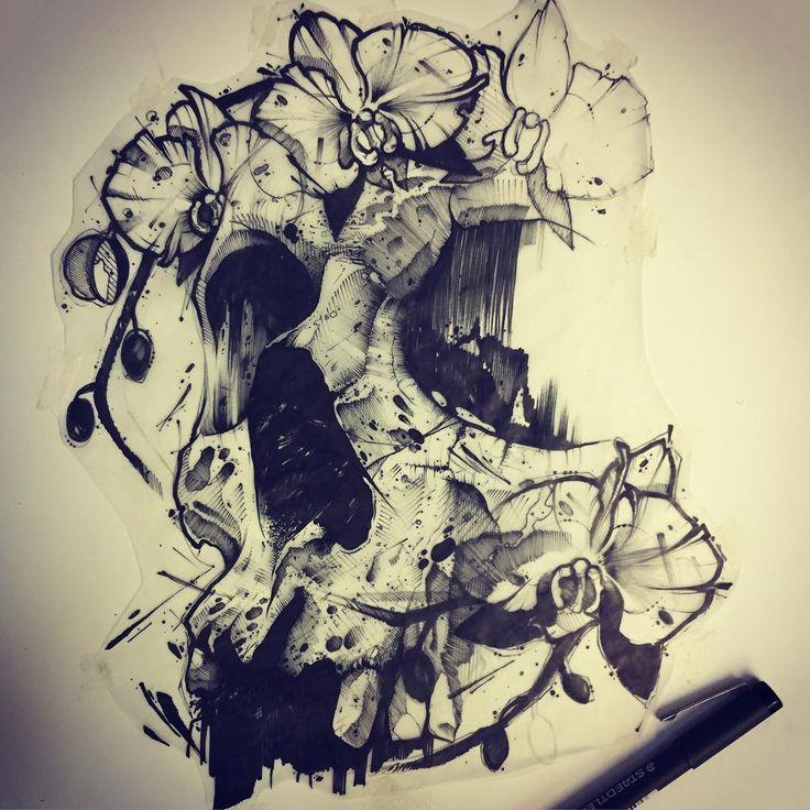 Darkness. ⚫️ #ink #inked #tattoo #tattoos #tattooed #tattrx #btattooing #blackwork #dot #draw #drawing #equilattera #blackandwhite #blackworkers #iblackwork #dotwork #blxckink #sketch  #vsco #vscocam #darkartists #black #illustration #art #graphic #artoftheday #blackworkerssubmission #skull #flower #dark