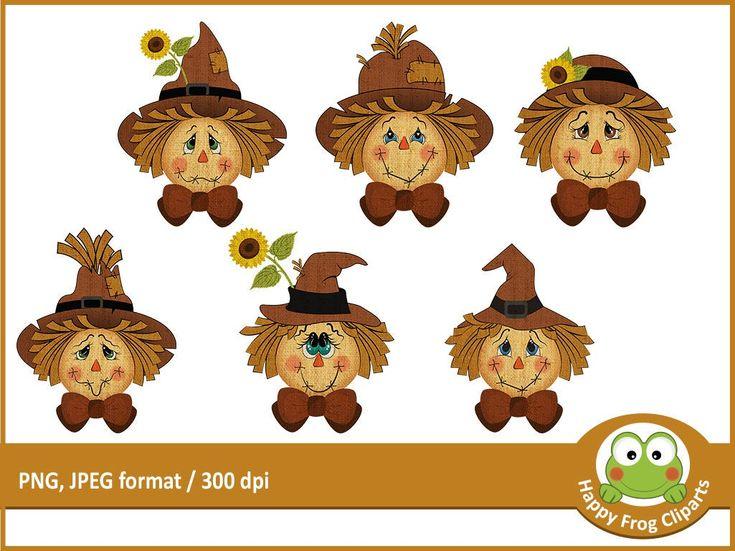 6 Scarecrows - HFC 045 - Scarecrow faces, Scarecrow ...