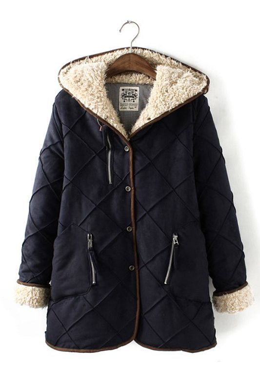 Stripe Printing Hat Coats Outerwear