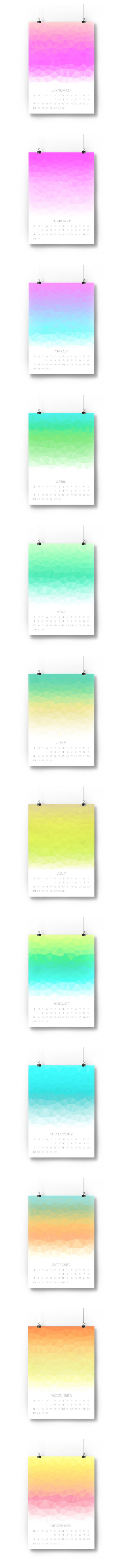 2016 Polygons Calendar — Vanessa Quijano #2016 #calendar #giftideas