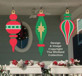 christmas tree yard art pattern | Holiday Signs - Giant Ornaments 5 Woodcraft Pattern