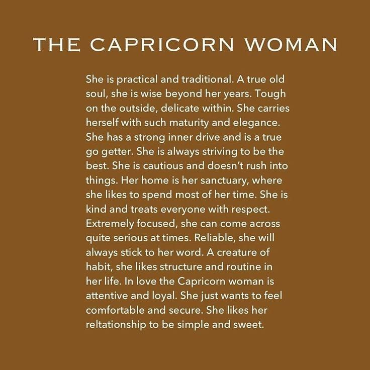 Know woman capricorn what to about Capricorn Woman: