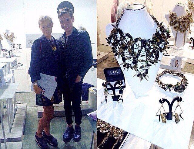 Daria Shapovalova, ceo at Mercedes-Benz Fashion Week Kiev with Georgy Rushev at SUPER tradeshow