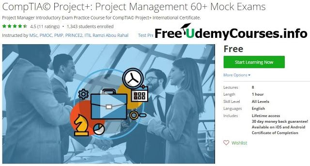 [Udemy #BlackFriday] #CompTIA Project: Project Management 60 Mock Exams   About This Course  Published 10/2016English  Course Description  THISIS AFREE COURSE OF 60 QUESTIONS with EXPLANATIONS related to PROJECT CERTIFICATION.  The CompTIA Project certification test addresses the project management life cycle as a whole that include the initiating planning execution control and close process groups. Professionals who are certified Project can guarantee employment in any industry as project…