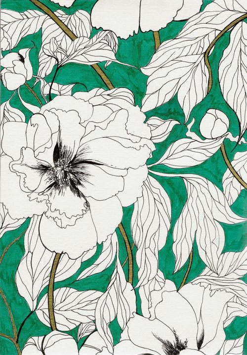 would be cool wallpaper in different colors - (GreenPeonies Marcella Wylie)