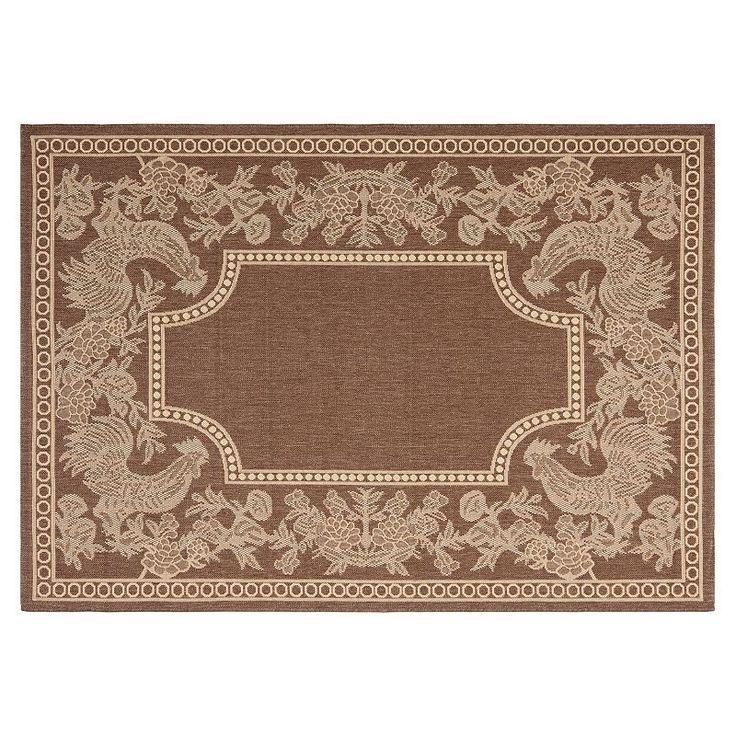 safavieh courtyard rooster indoor outdoor rug black