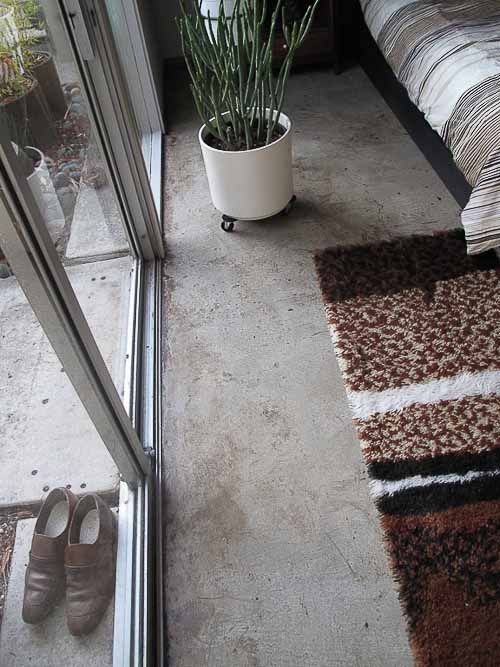 Polished concrete floors for troy 39 s eichler house new for Radiant heat flooring options