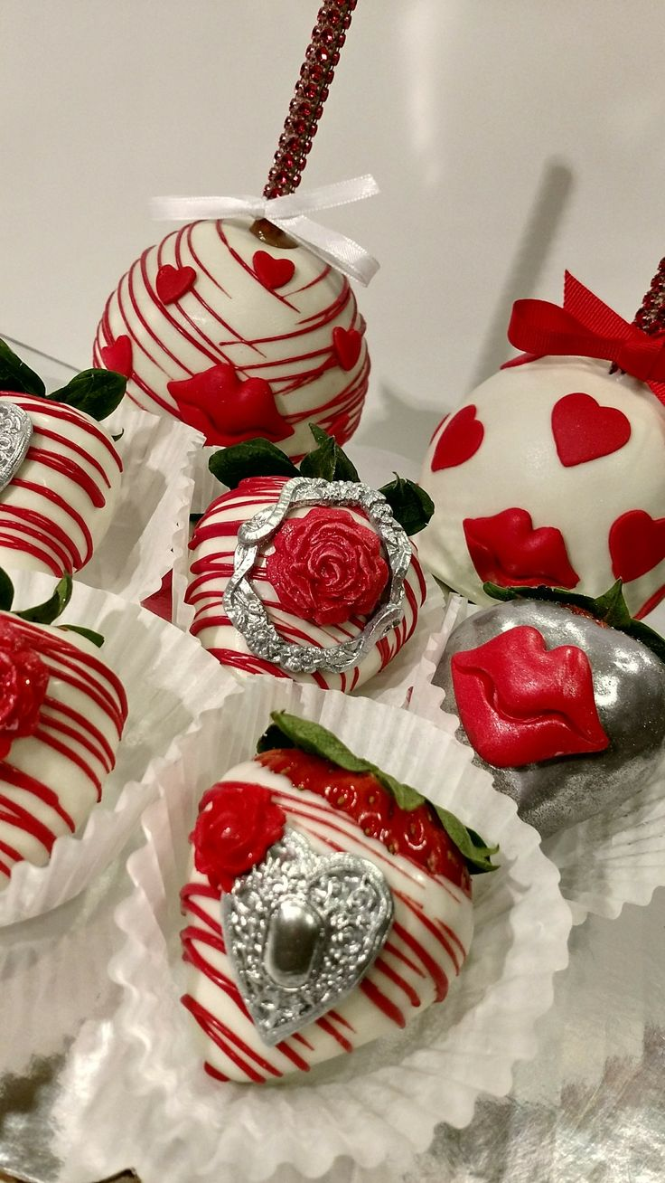 Caramel dipped in white chocolate  candy apples and strawberries. Boxed bow ready for gift giving  Creamy Sweet Petite Treats