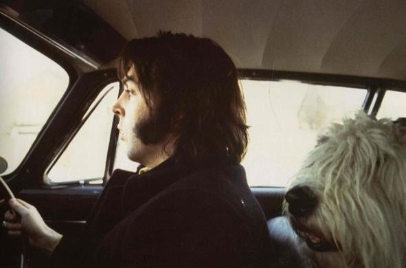 Paul & Martha! You know you're a Beatles fan when you love Martha as if she were the 5th Beatle! ♥